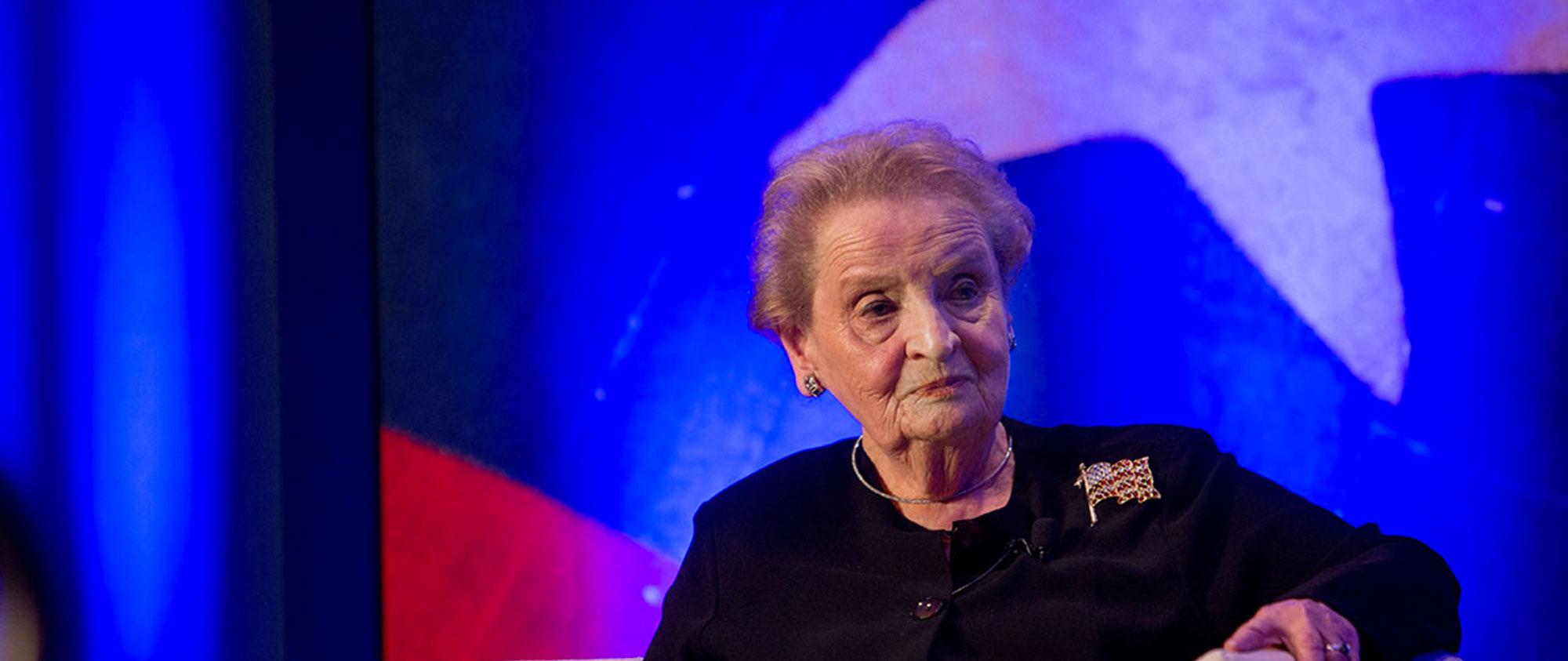 Madeleine K. Albright, Former Secretary of State photo